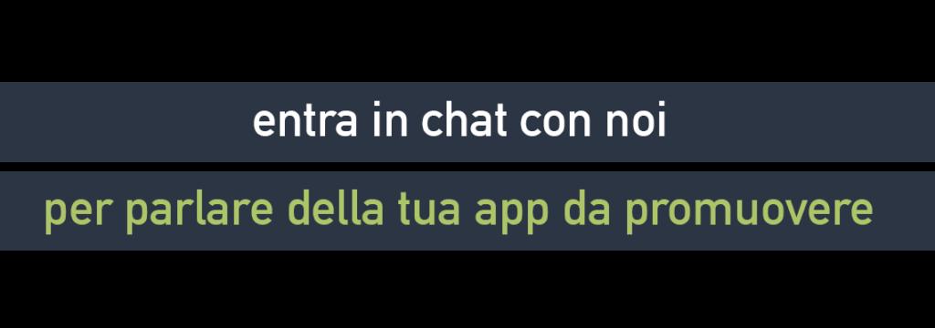 Entra in Chat applicazione da promuovere