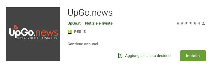Applicazione UpGo.news