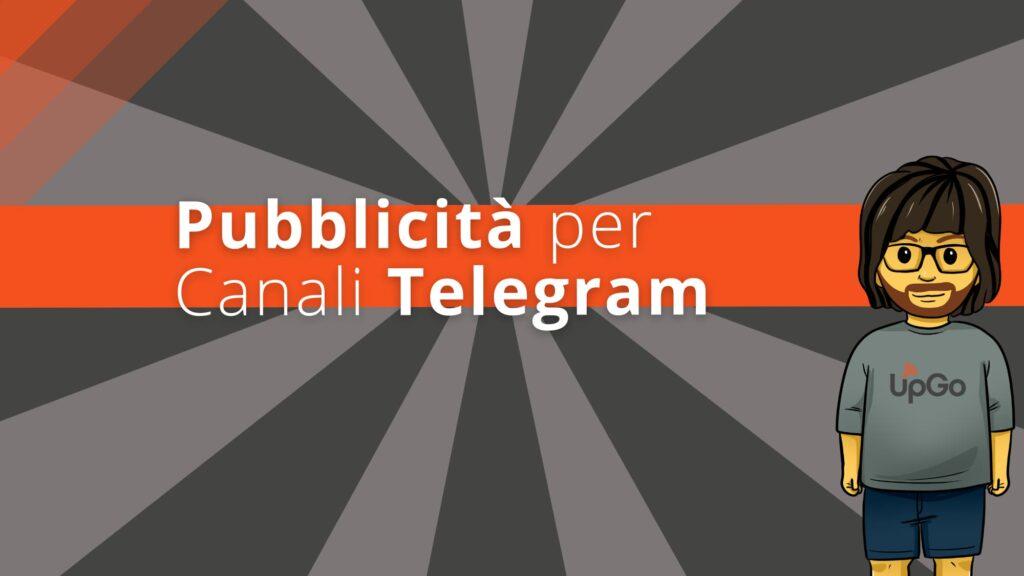 Pubblicità per canali su Telegram